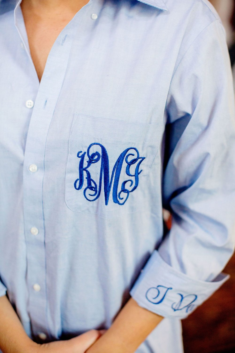 monogrammed bridal button down   Planning By Wrap It Up Parties