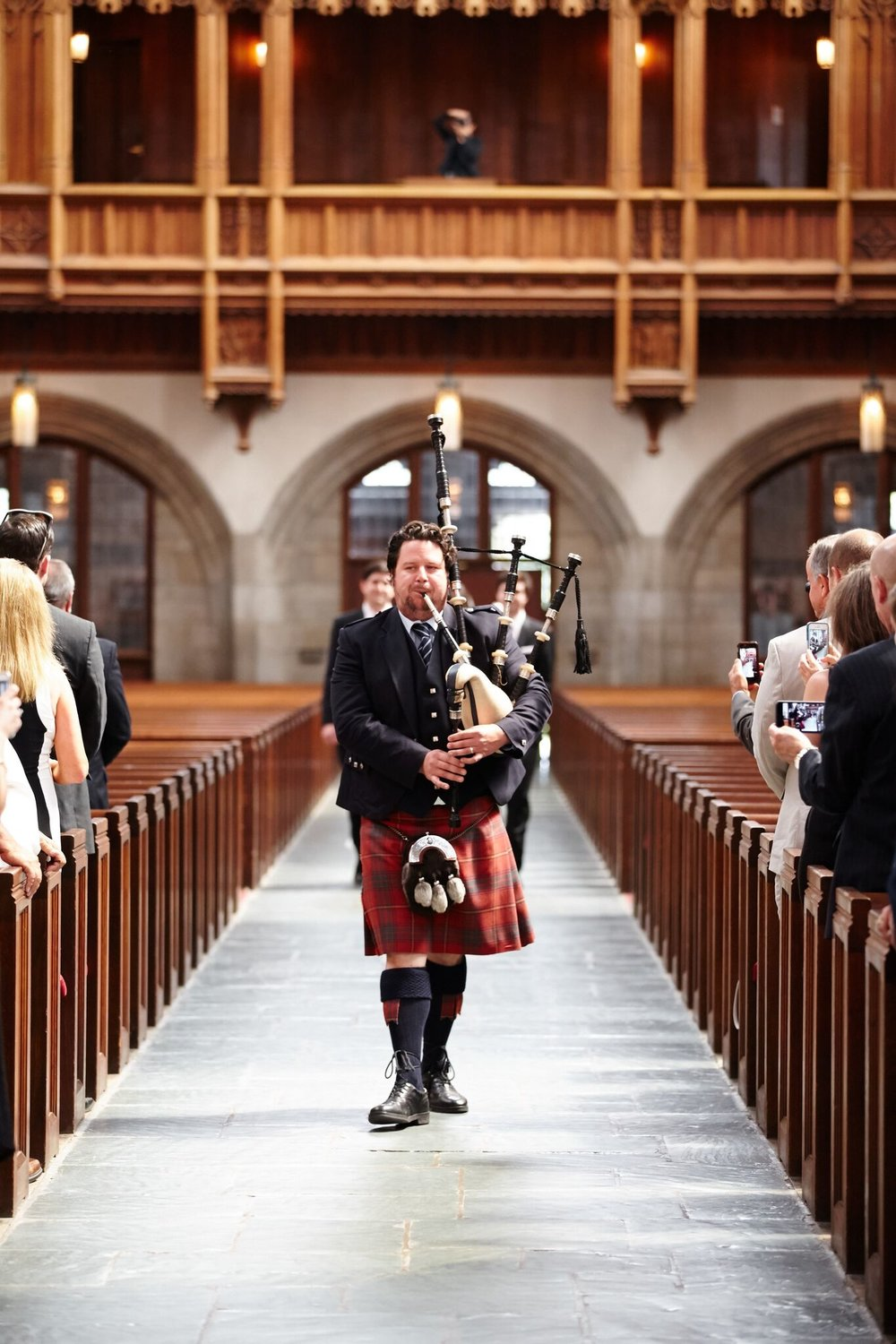 Bagpipes at Wedding Ceremony