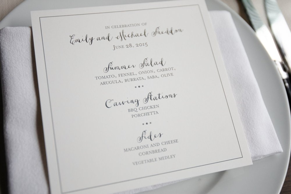 Simple Menu Card