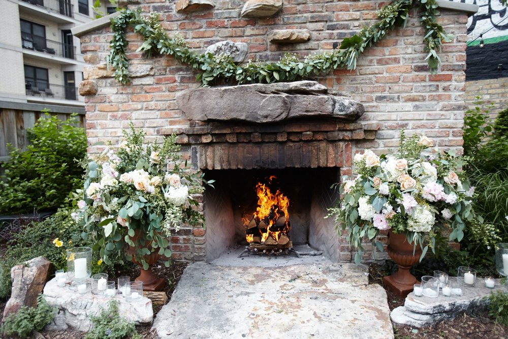 Fireplace Floral Arrangements