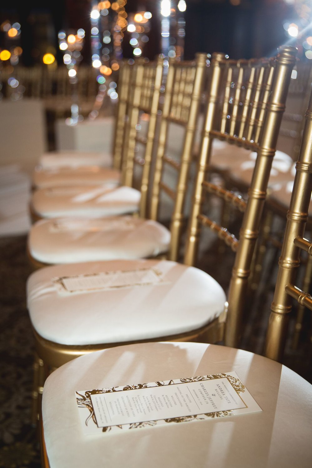 Gold Chiavari Gold Chairs