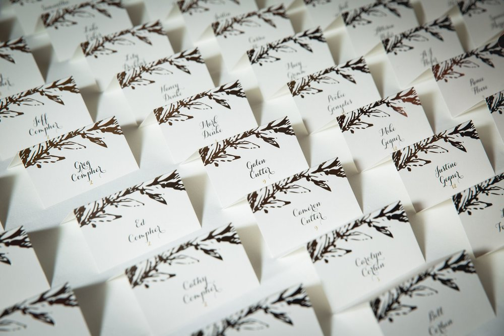 Winter Themed Escort Cards