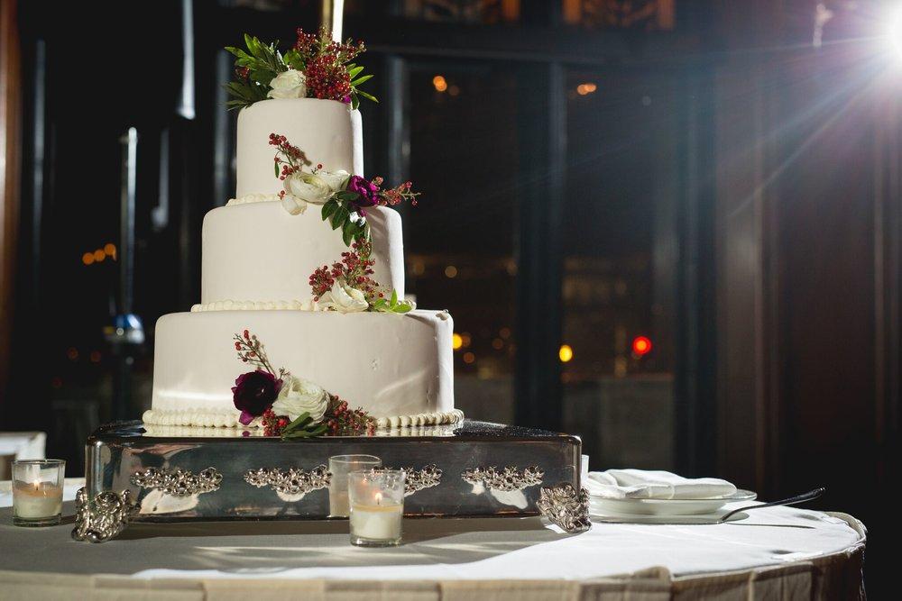 Classic White Fondant Cake