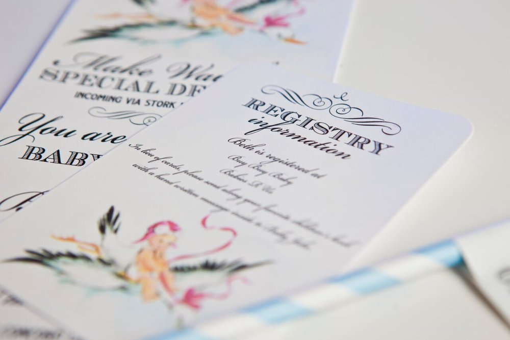Hand Drawn Registry Cards