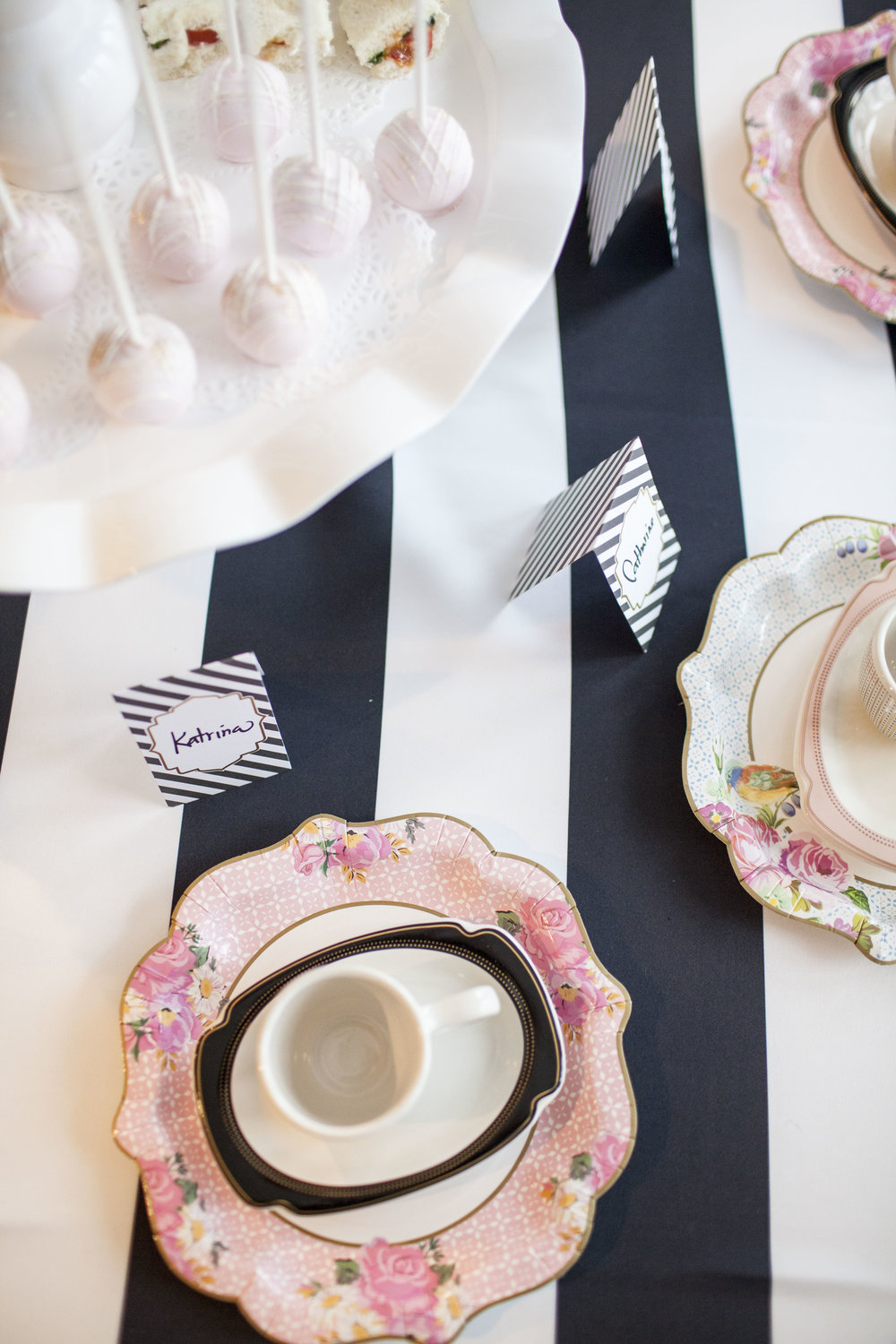 tea party tables, birthday party, Wrap It Up Parties