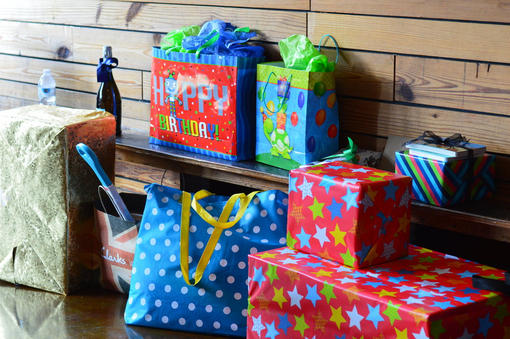 gift table, space first birthday, Wrap It Up Parties