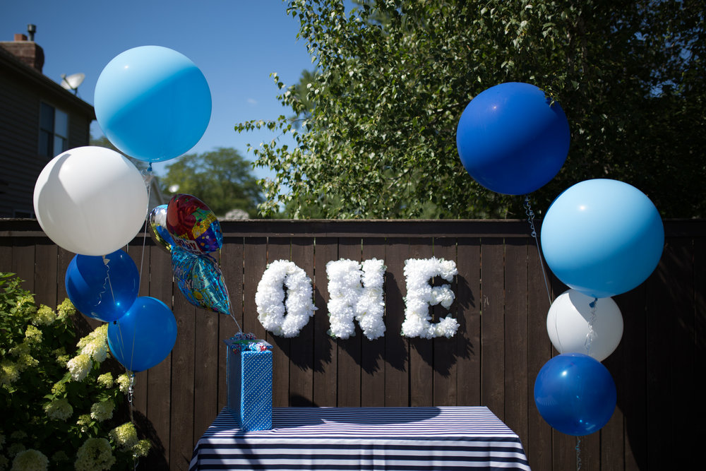 first birthday party, nautical party, blue balloons, boy birthday party, Wrap It Up Parties