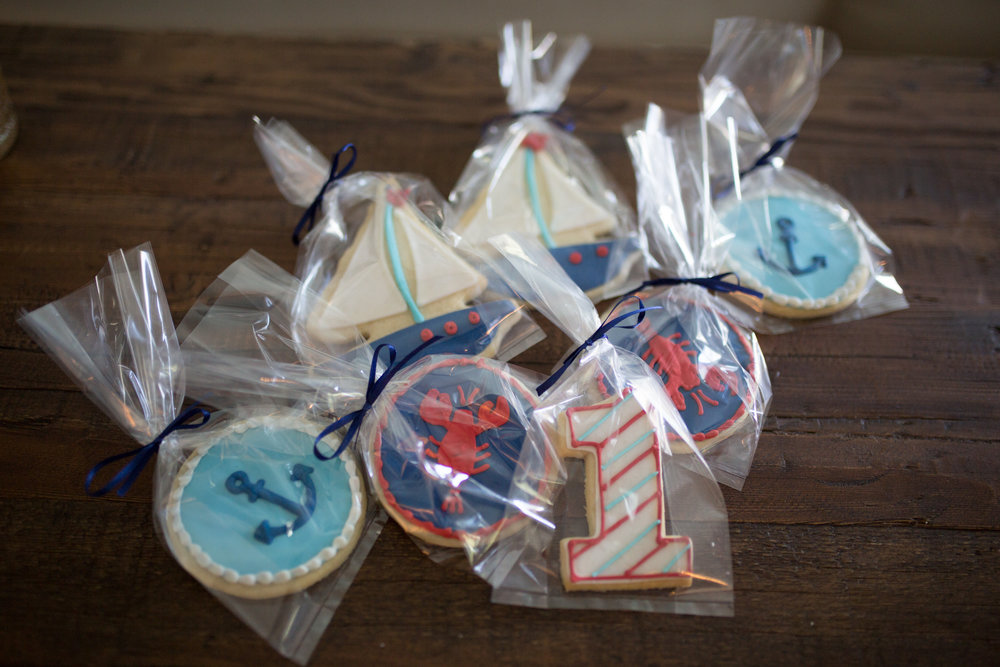 nautical cookies, first birthday, nautical first birthday, Wrap It Up Parties