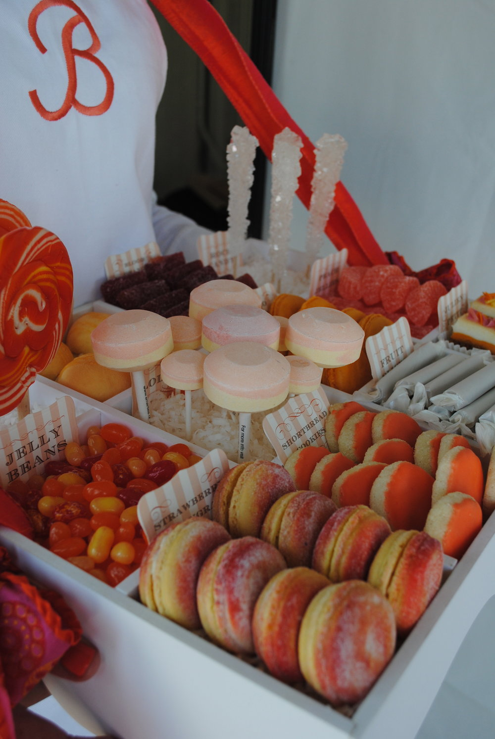 coral cookie table, rooftop bridal shower, Wrap It Up Parties