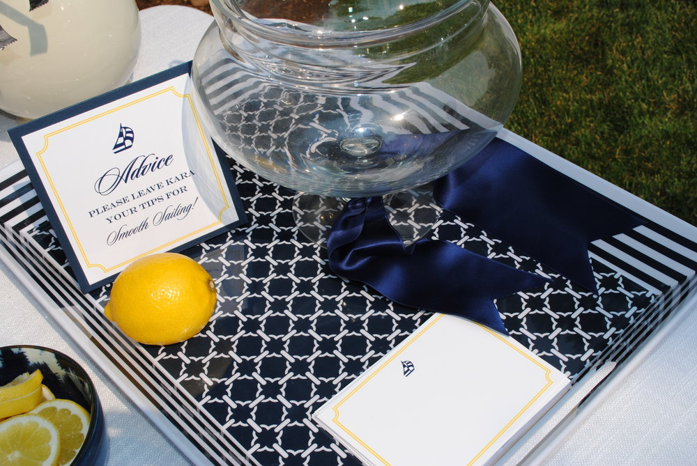nautical baby shower, baby boy advice table, baby boy shower, Wrap It Up Parties
