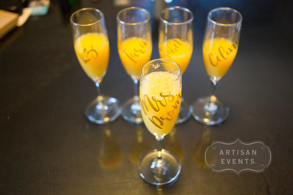 wedding mimosas, Chicago Cultural Center, Wrap It Up Parties