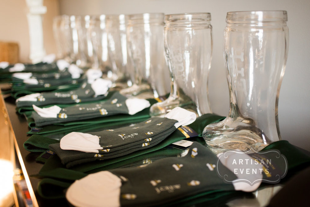 wedding socks, groomsmen gifts, Chicago Cultural Center, Wrap It Up Parties