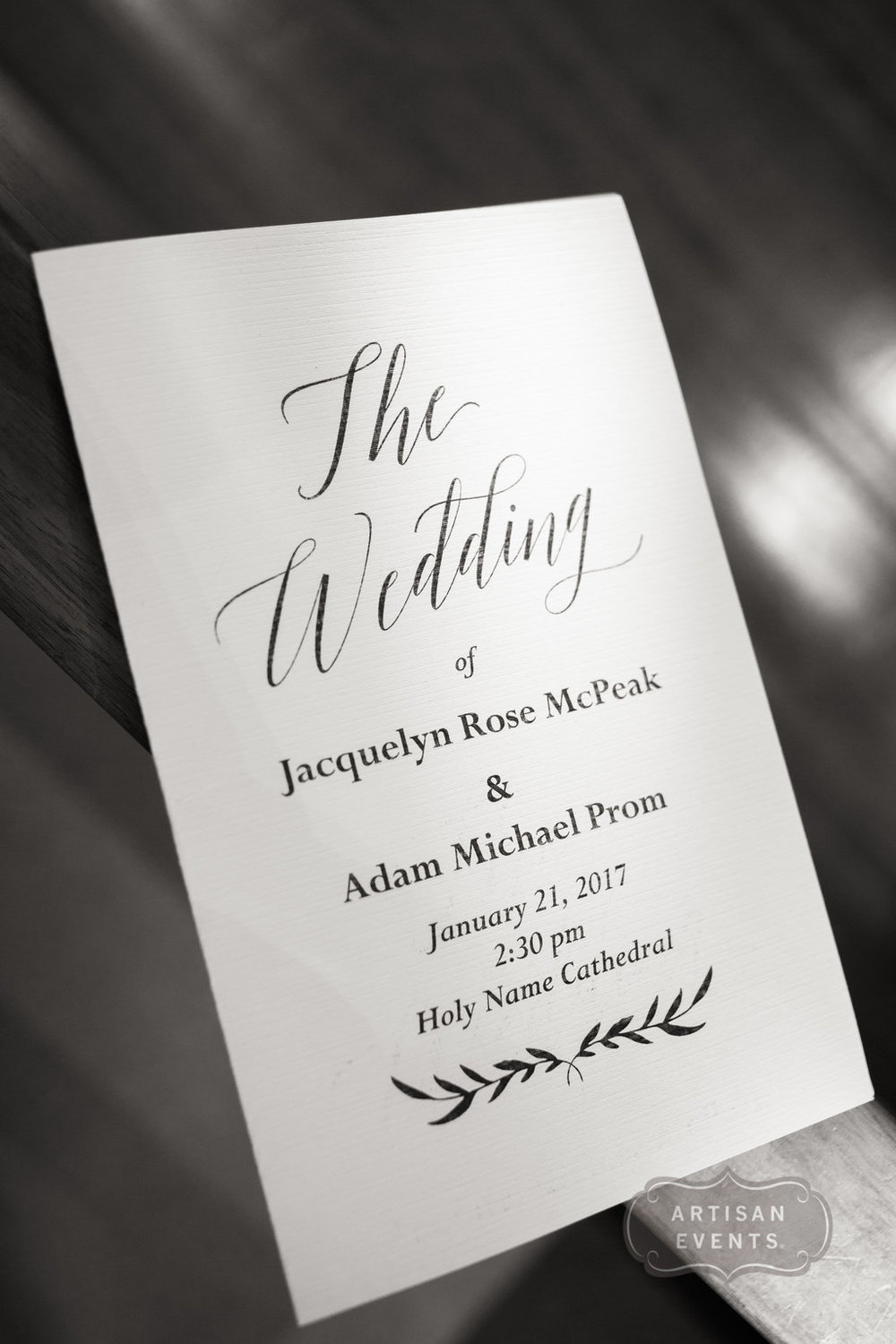 wedding sign, bride and groom, Chicago Cultural Center, Wrap It Up Parties