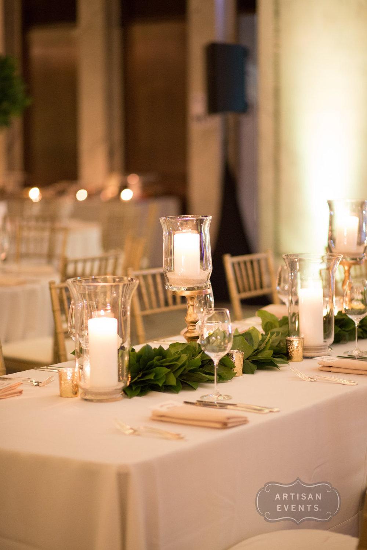 flowers, candles, centerpieces, Chicago Cultural Center, Wrap It Up Parties