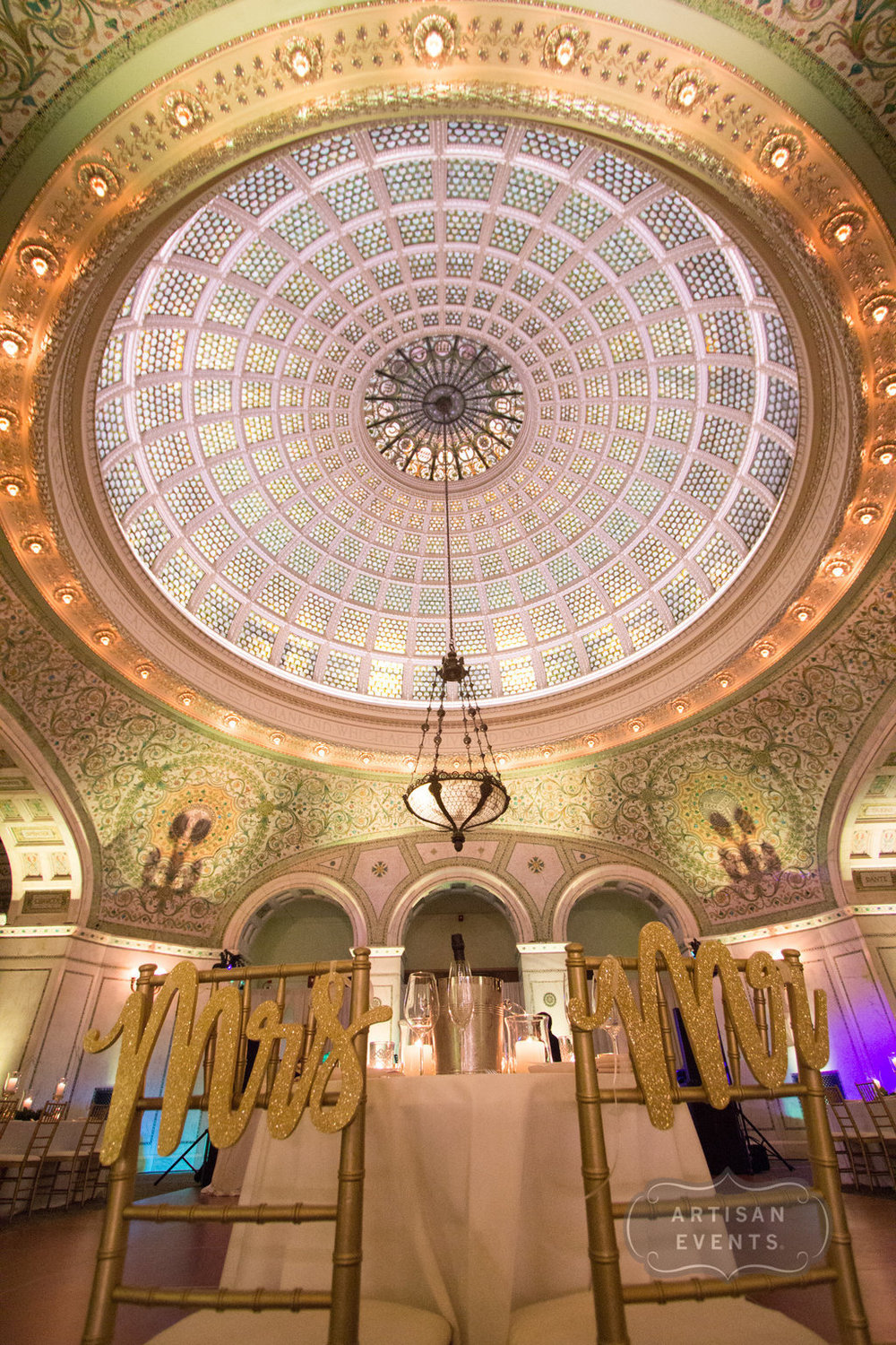 wedding reception, Chicago Cultural Center, Wrap It Up Parties