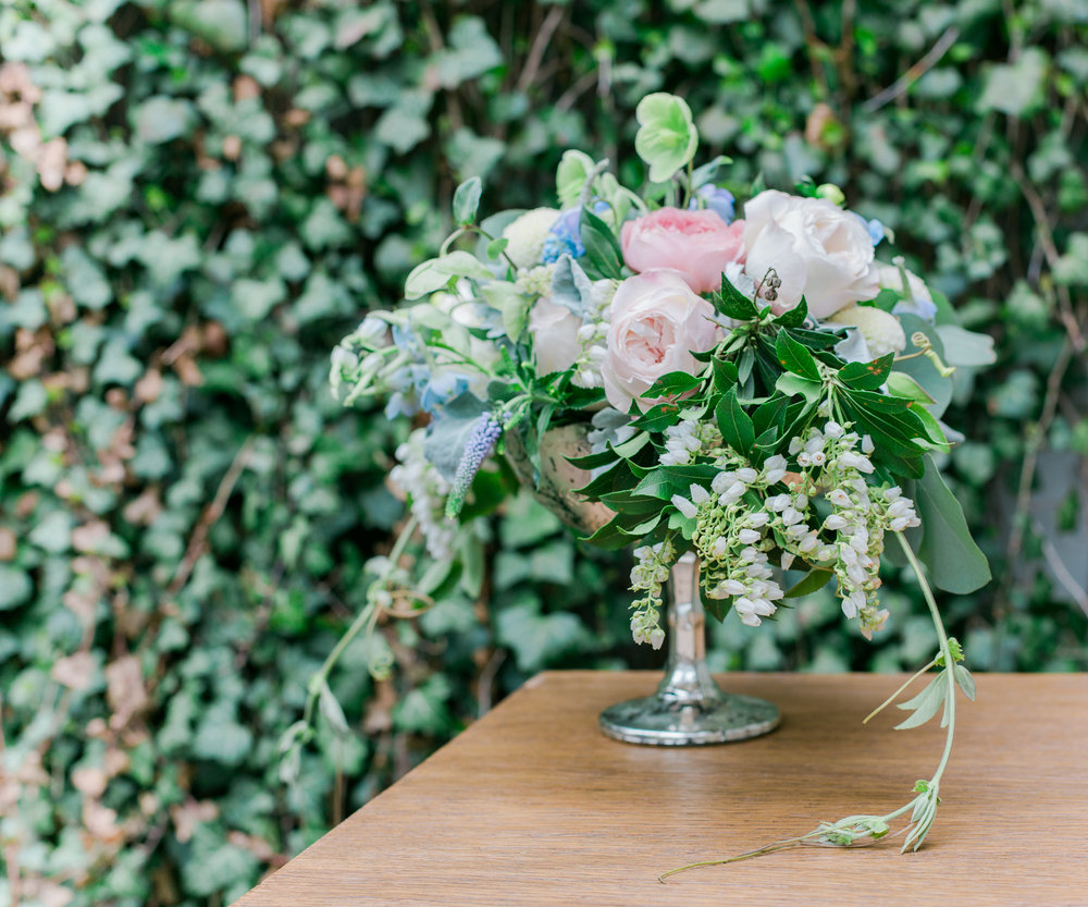 Spring Garden Shower  Spring Floral Centerpiece   Planning by Wrap It Up Parties
