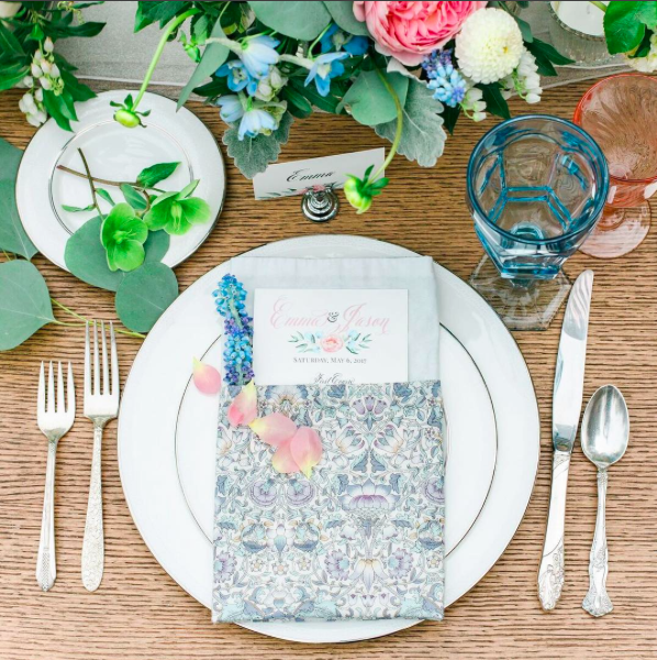 Spring Garden Shower  Spring Theme Shower  Shower Place Setting  Planning by Wrap It Up Parties