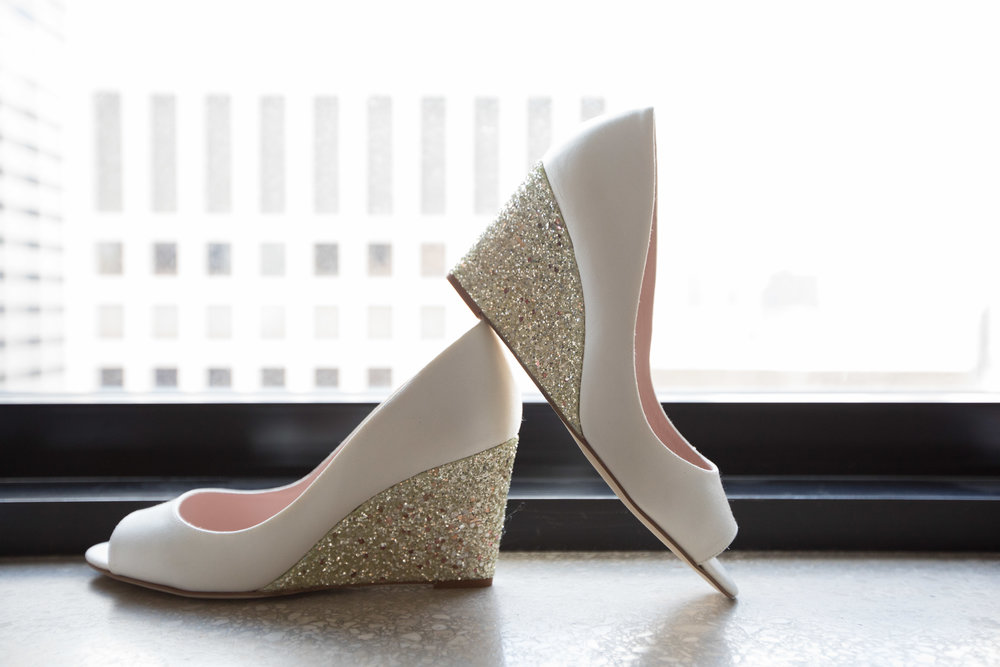 Bridal Shoes  School of the Art Institute  Planning by Wrap It Up Parties