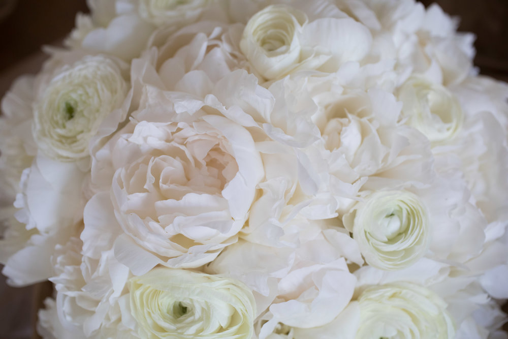 White Wedding Flowers  School of the Art Institute  Planning by Wrap It Up Parties