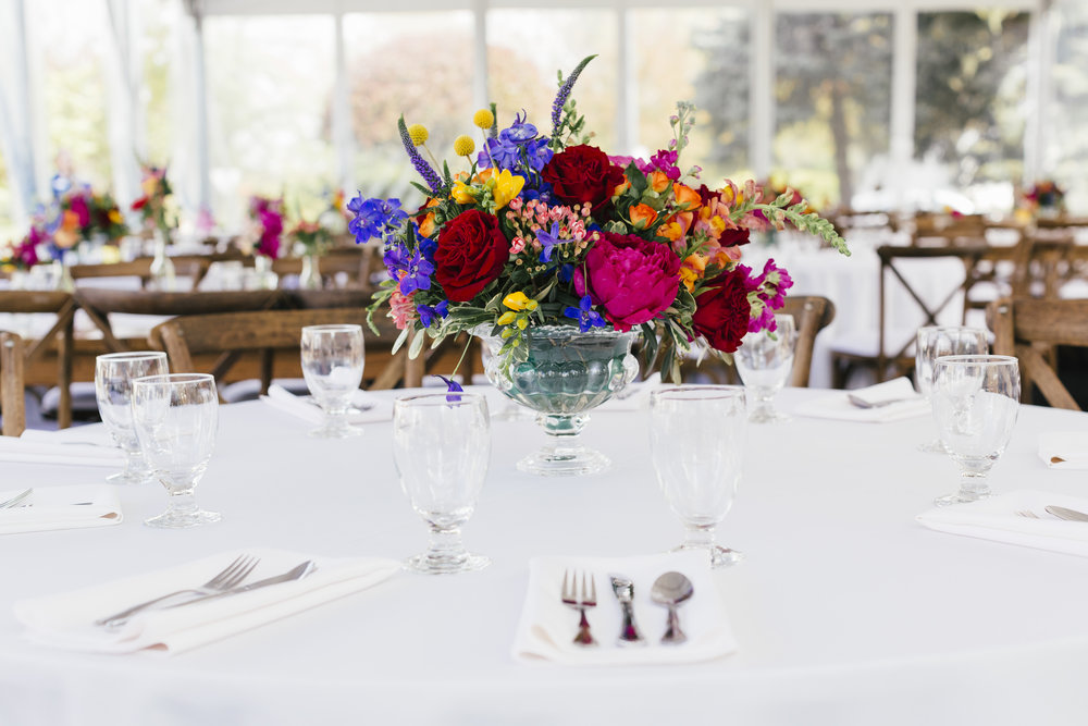 Private Residence Wedding  Colorful Wedding Reception  Indian Wedding  Planning by Wrap It Up Parties