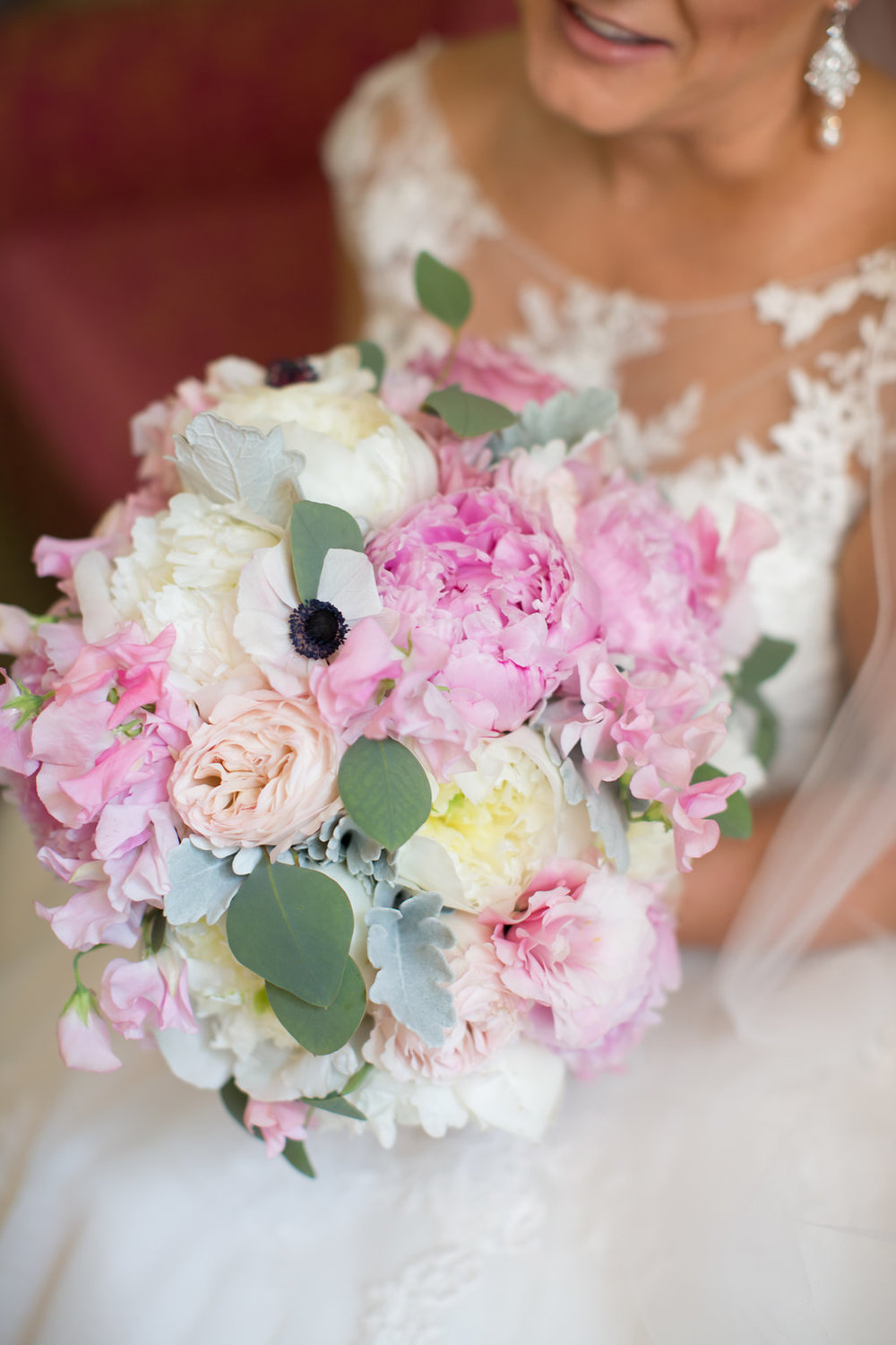 Pink and White Bridal Bouquet  Planning by Wrap It Up Parties