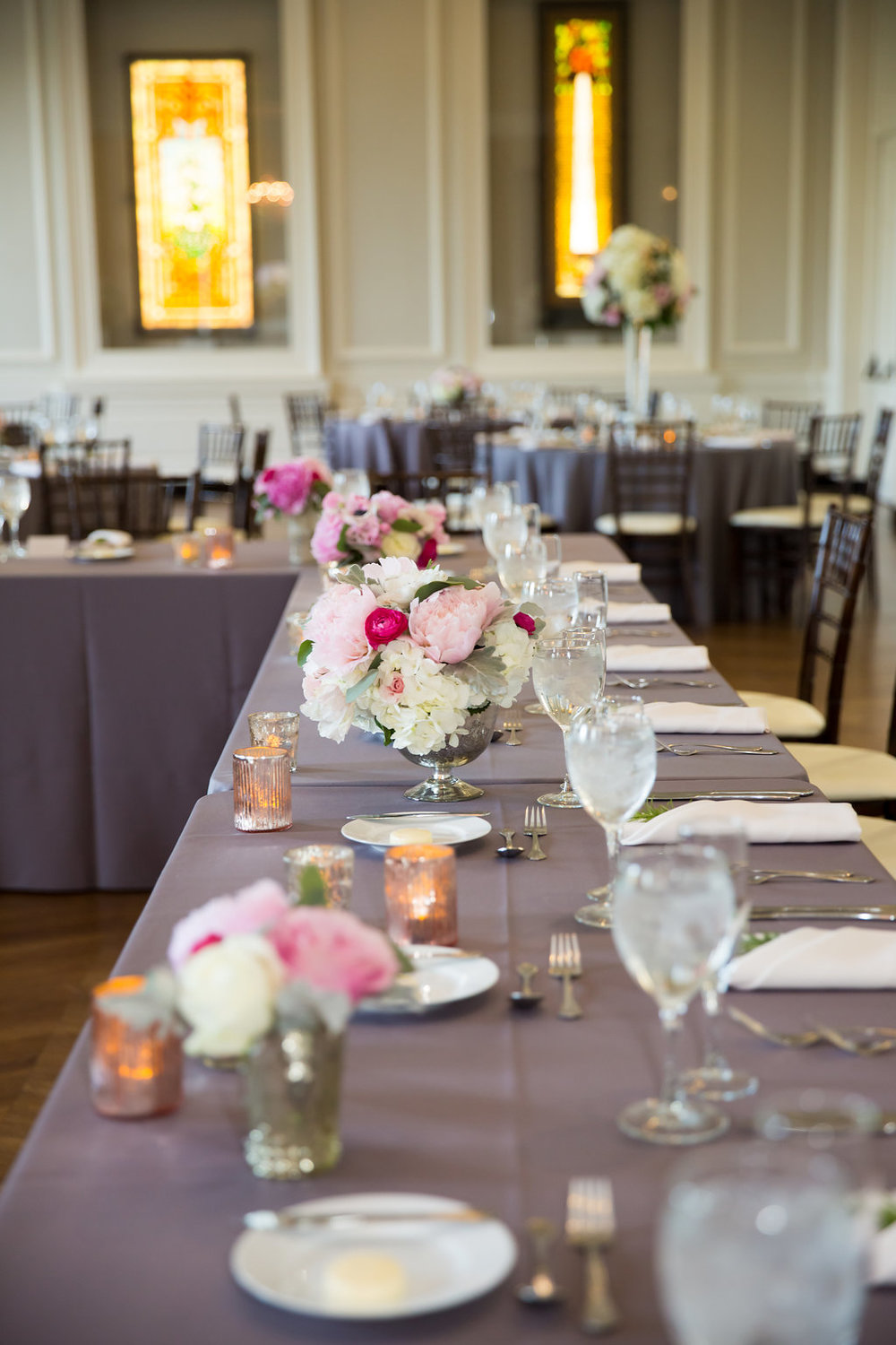 Head Table Decor  Planning by Wrap It Up Parties