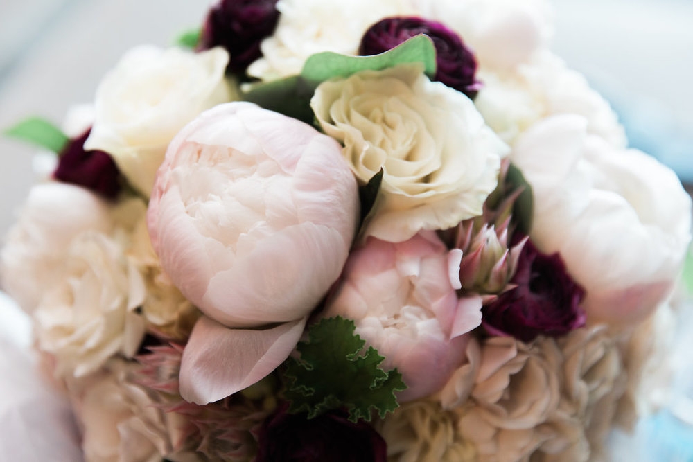 Pink, White and Maroon Floral Bouquet   Planning by Wrap It Up Parties