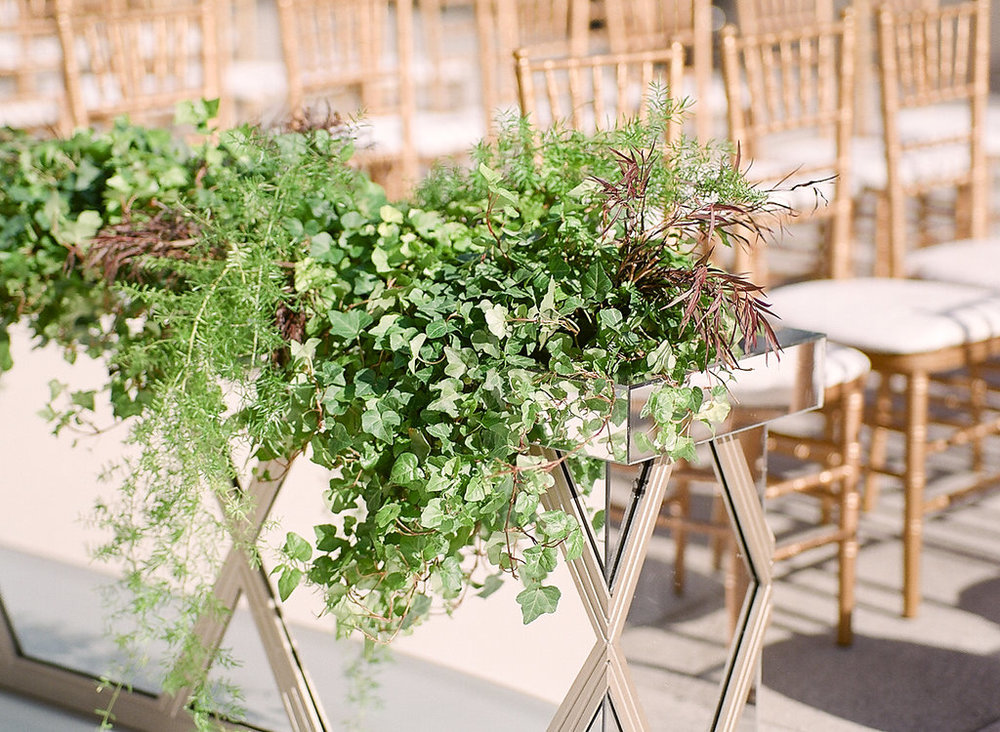 Ceremony Greenery  Planning by Wrap It Up Parties