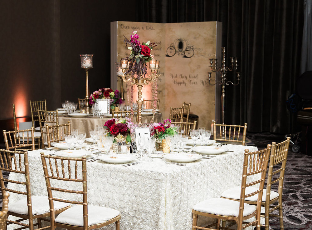 Moody Reception Decor  Planning by Wrap It Up Parties