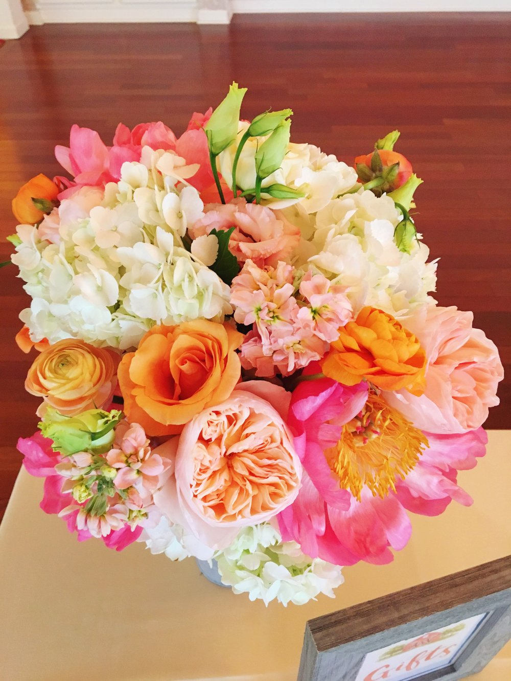 Pink and Bright Flower Decor  Planning by Wrap It Up Parties