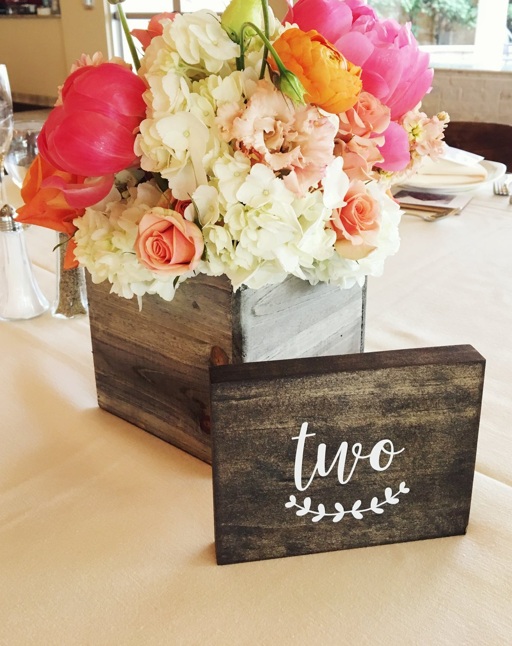 Barn Bridal Shower  Bright Floral Centerpieces  Planning by Wrap It Up Parties