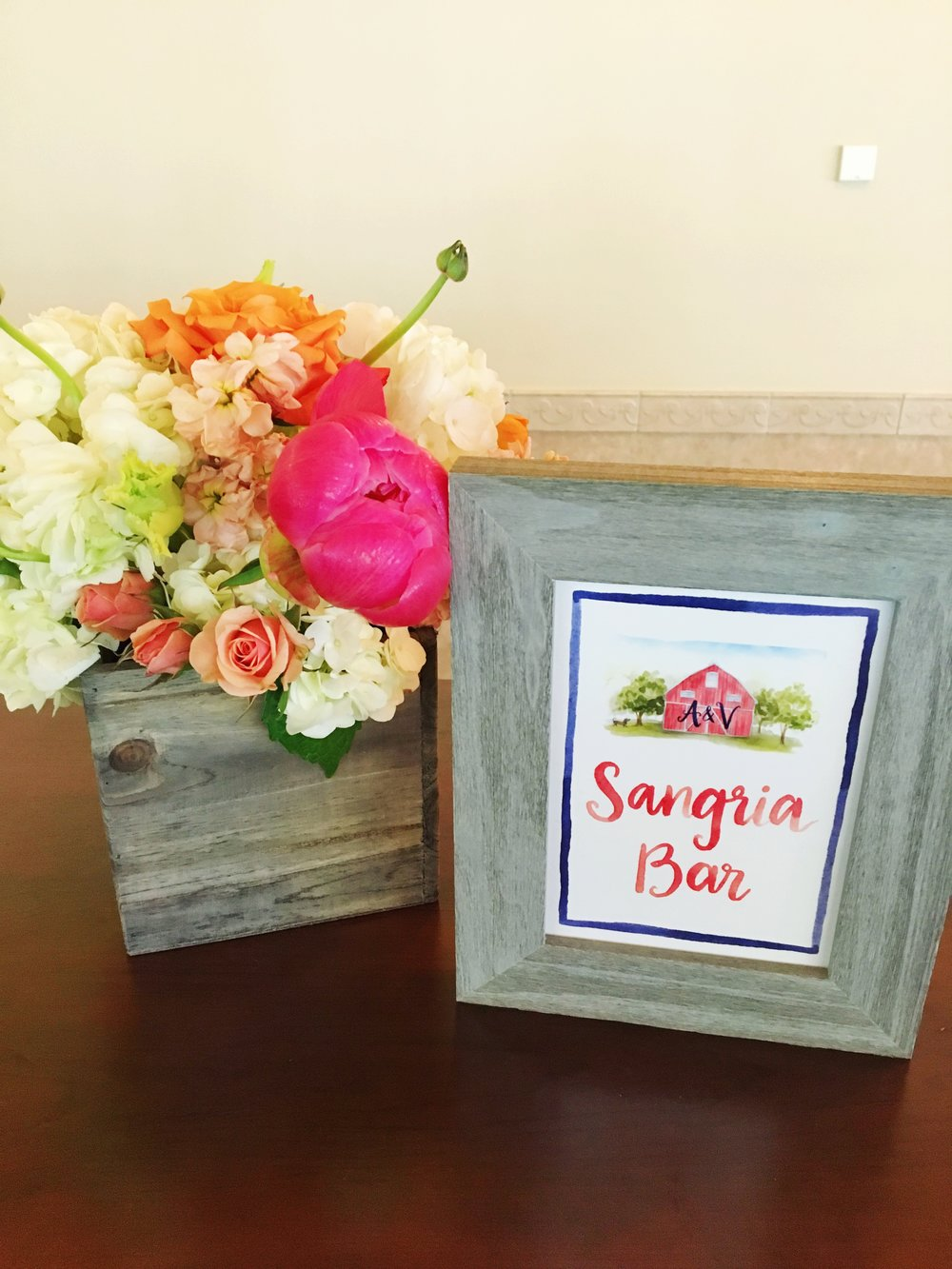Bridal Shower Sangria Bar  Barn Bridal Shower  Planning by Wrap It Up Parties