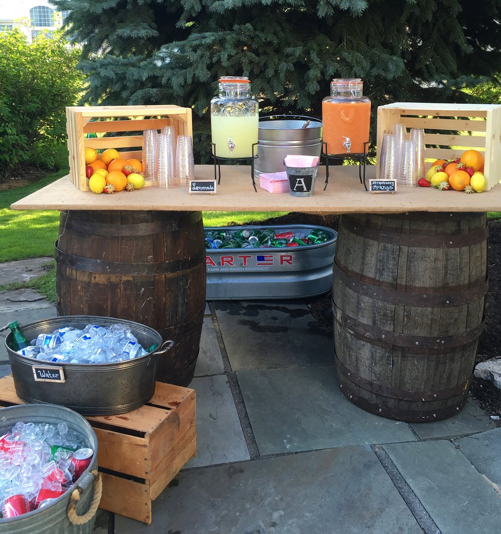 Rustic Graduation Party Decor  Rustic Bar Decor  Planning by Wrap It Up Parties