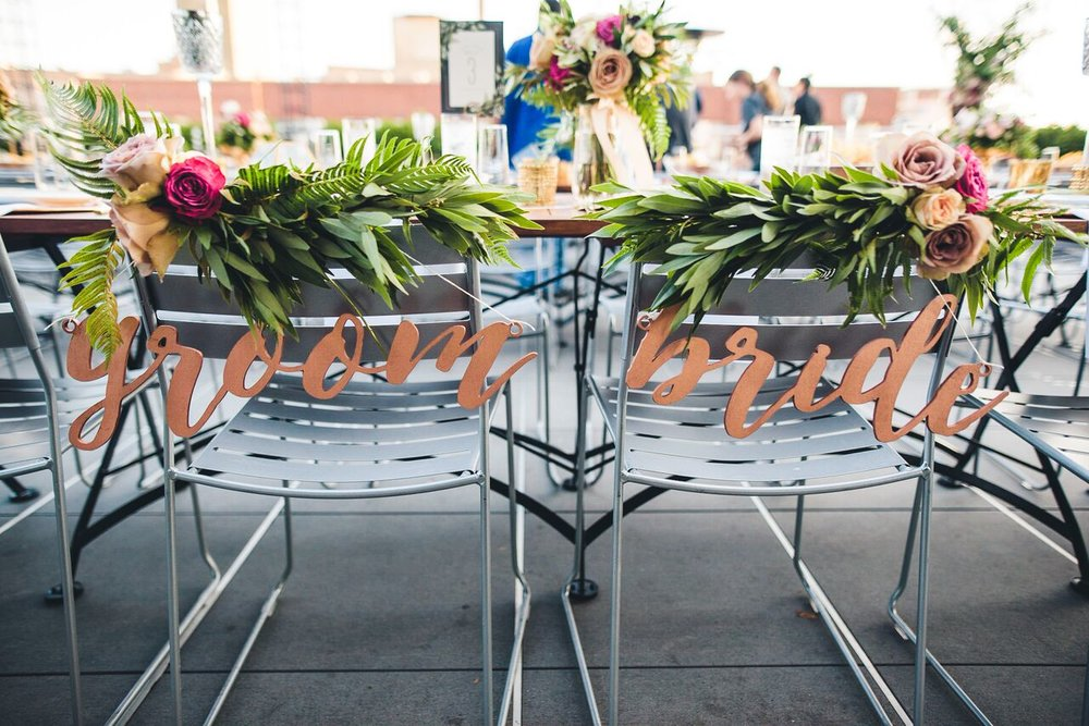 Bride and Groom Chair Decor  Planning by Wrap It Up Parties