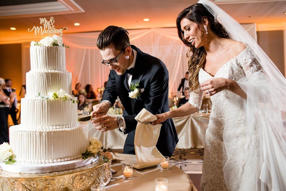 Bride and Groom Cake Cutting  Planning by Wrap It Up Parties