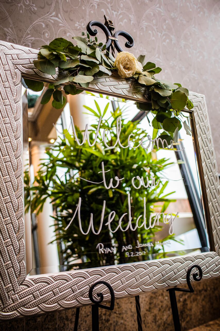 Wedding Reception Welcome Sign  Planning by Wrap It Up Parties
