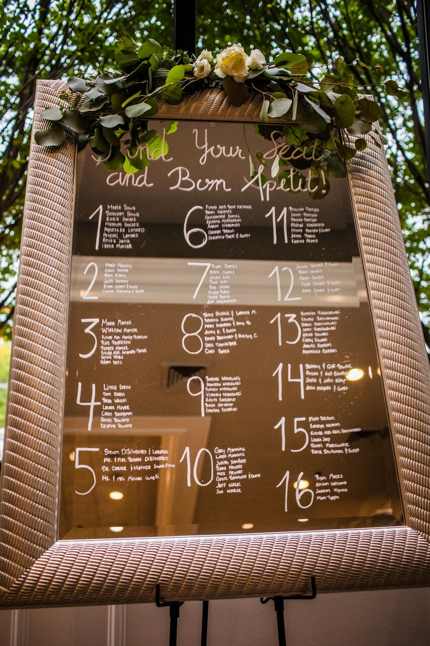 Wedding Reception Seating Chart  Planning by Wrap It Up Parties