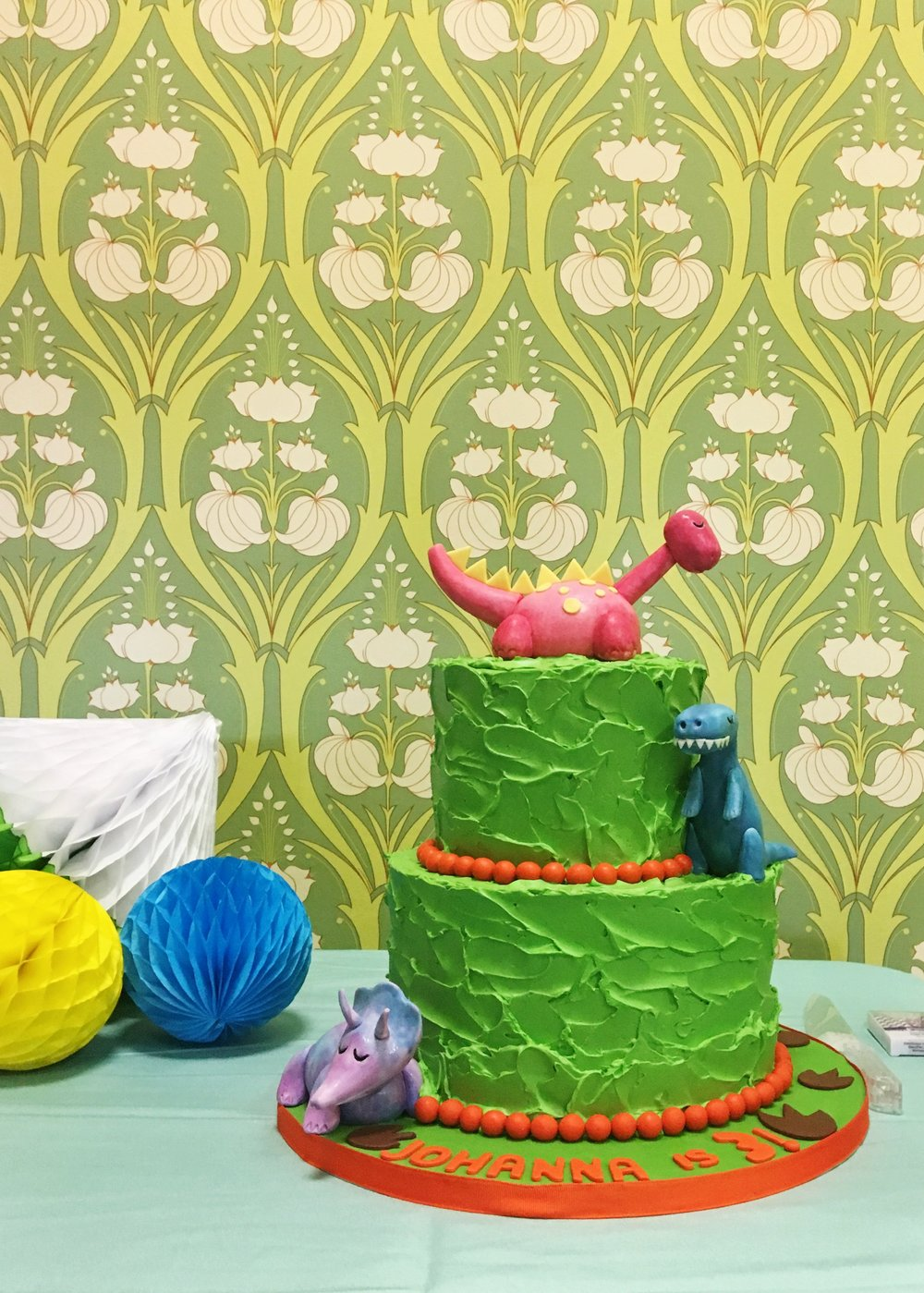 T-Rex Birthday Cake   Planning by Wrap It Up Parties