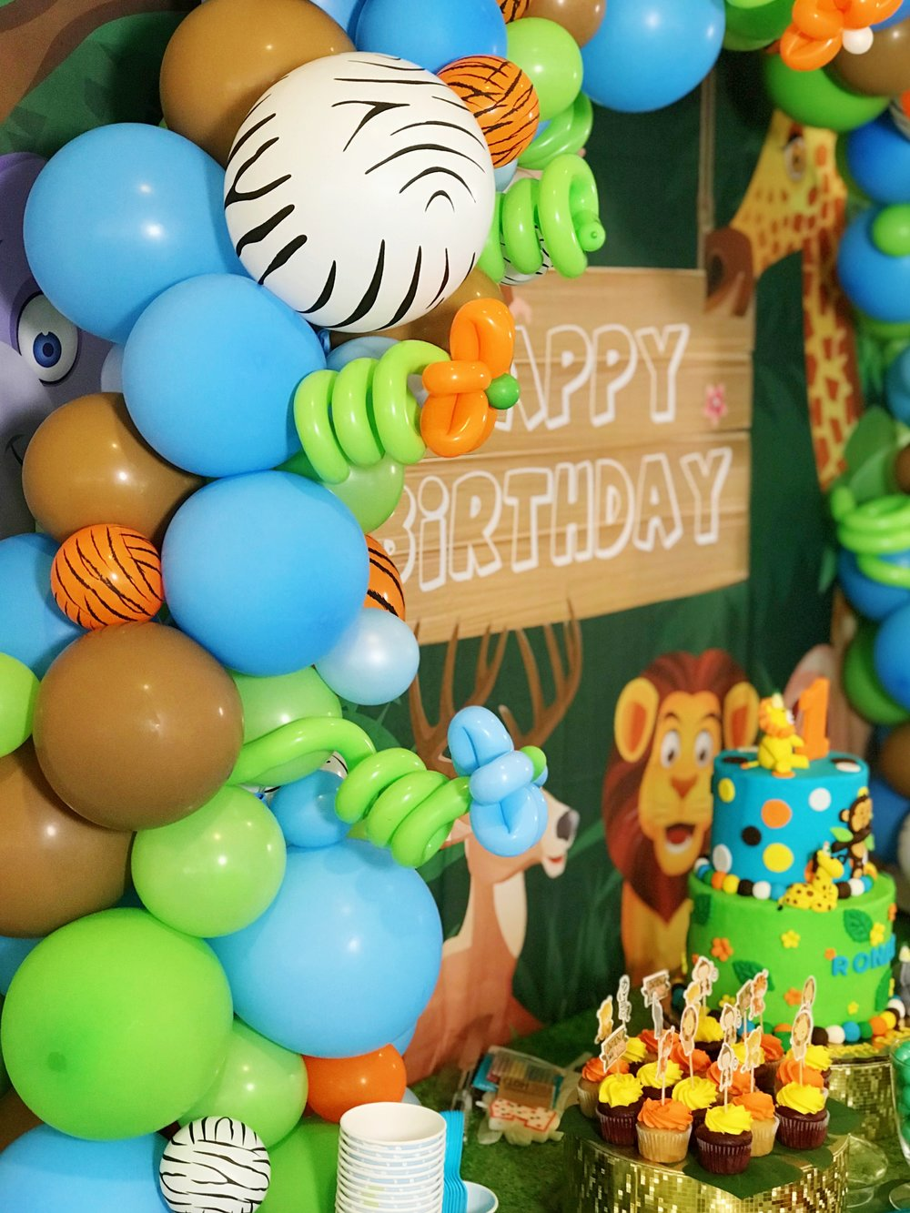 Jungle Jamboree 1st Birthday