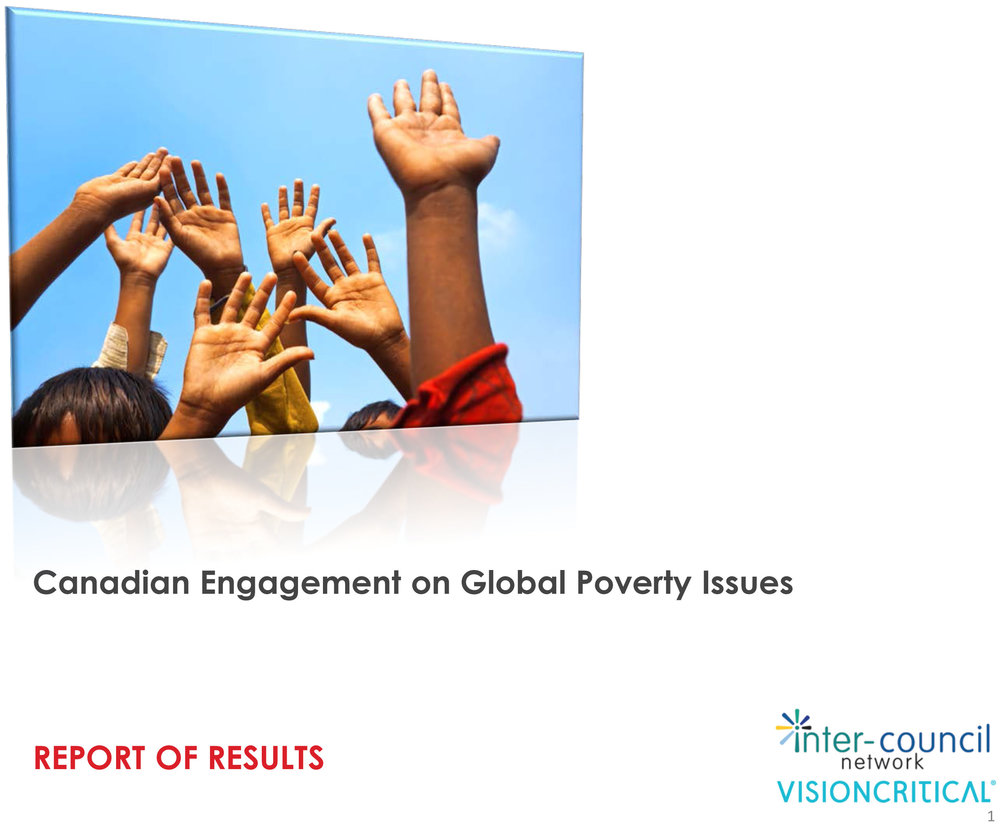 Canadian Engagement on Global Poverty Issues (Report of results)