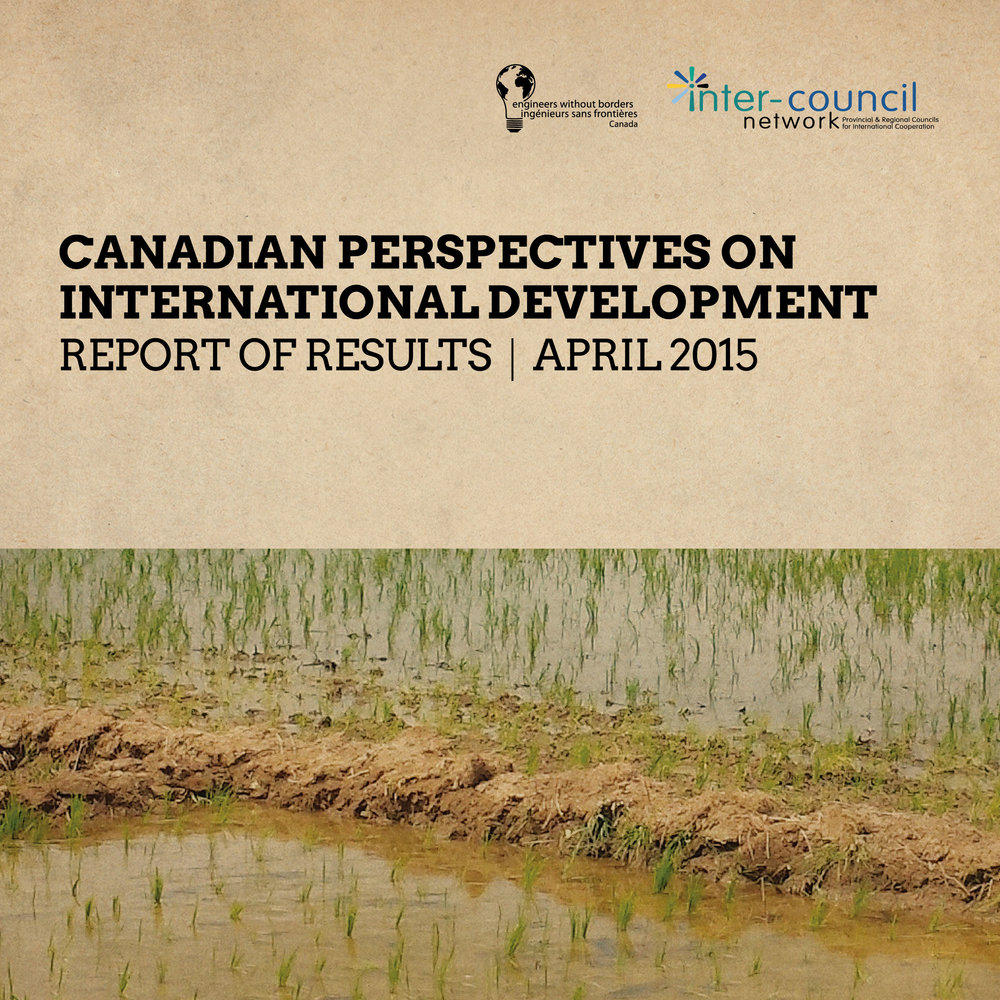 Canadian Perspectives on International Development REPORT OF RESULTS