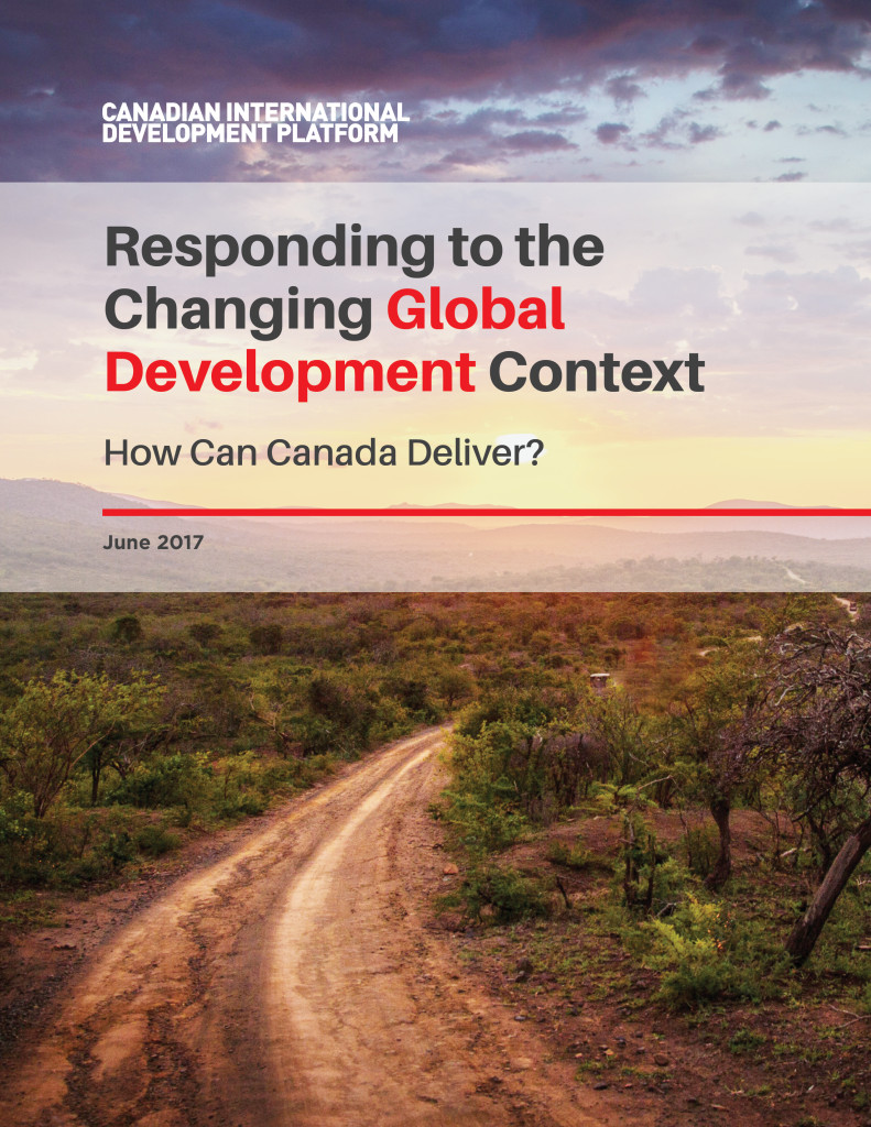 Responding to the Changing Global Development Context How Can Canada Deliver?