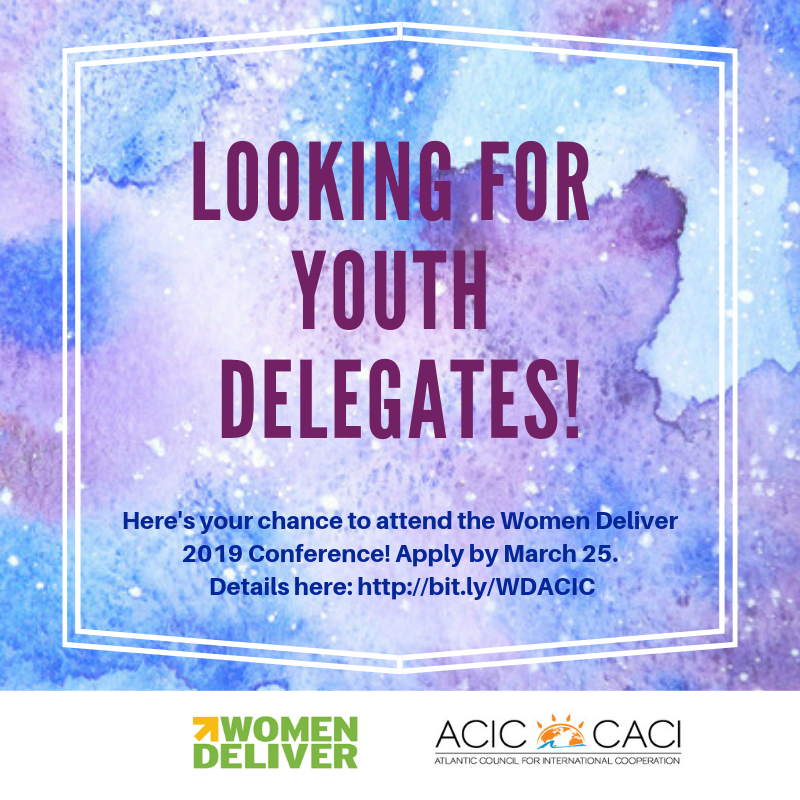 Open call for youth delegates- Women Deliver Conference