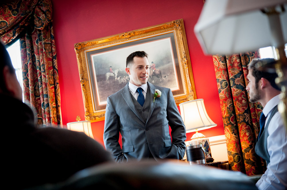 Groom before the ceremony