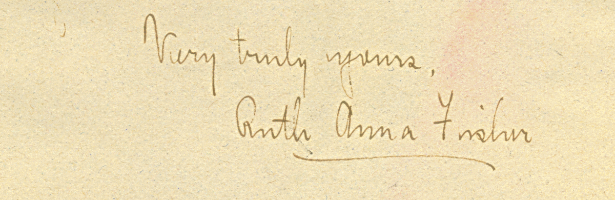 Ruth Anna Fisher signature
