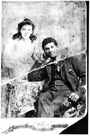 Photograph of Eliza Adelaide Knight and Donald Adolphus Brown