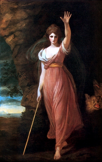 Portrait of Lady Hamilton as Circe by George Romney
