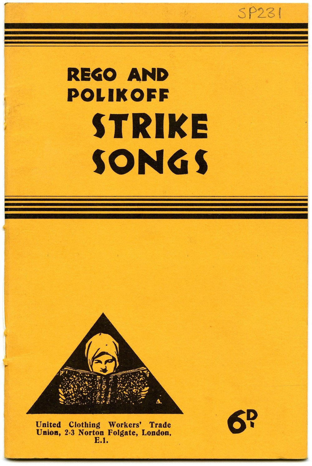 Cover of the replica Rego Strikers songbook, courtesy of the  Bishopsgate Institute