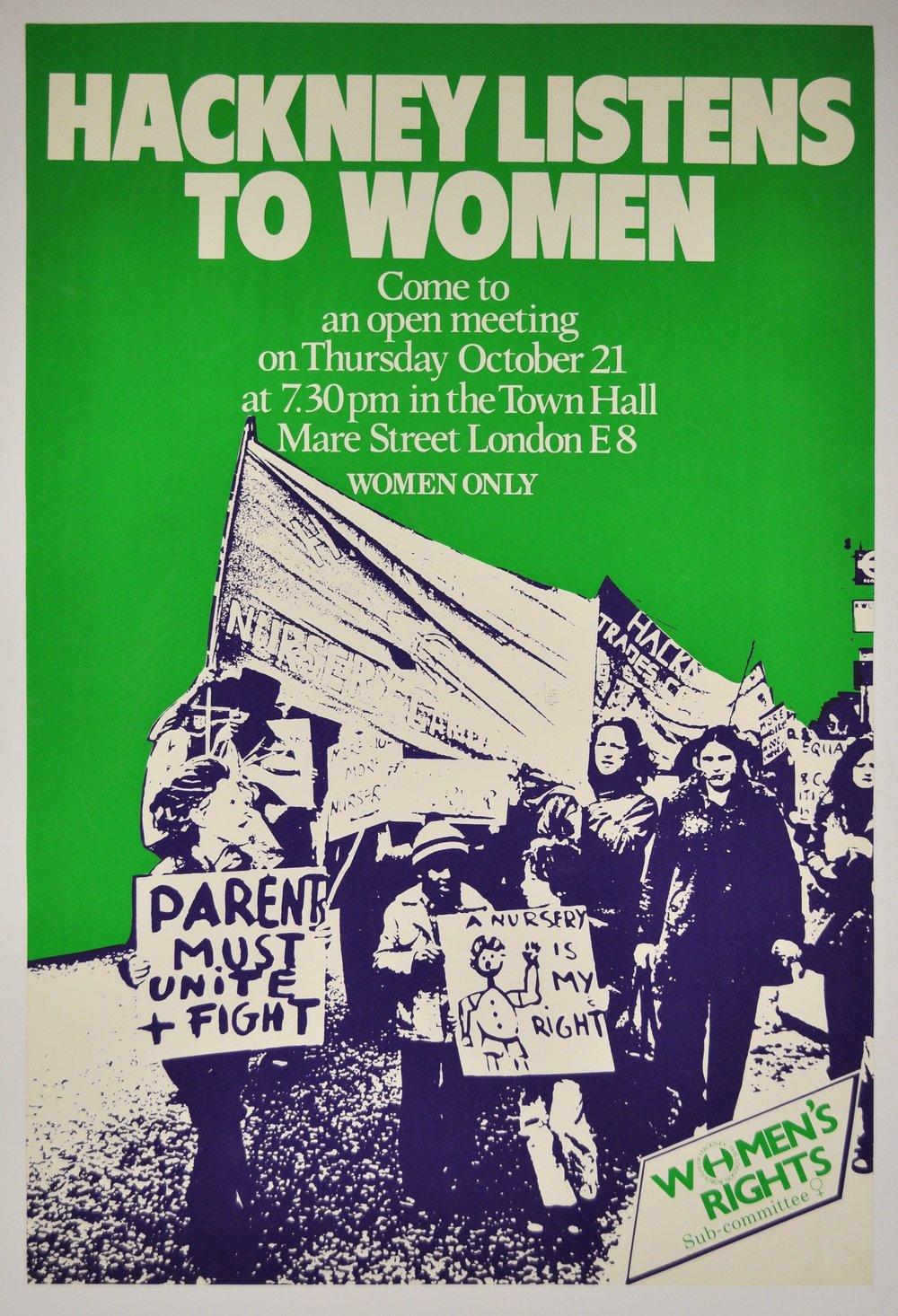 Poster, Hackney Museum . Original image, Hackney Flashers .