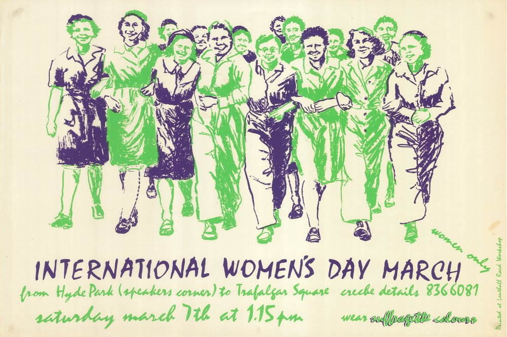 Poster by Lenthal Road Workshop, on loan by Rebecca Wilson